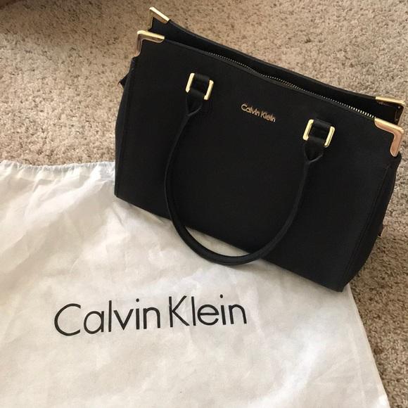 987a2bbe42 Calvin Klein Bags   Black Gold Bag   Poshmark